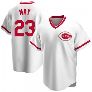 Men's Cincinnati Reds Lee May White Home Cooperstown Collection Jersey - Replica