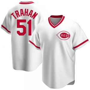 Youth Cincinnati Reds Blake Trahan White Home Cooperstown Collection Jersey - Replica