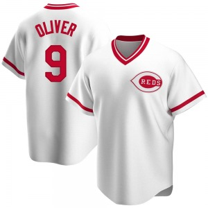Youth Cincinnati Reds Joe Oliver White Home Cooperstown Collection Jersey - Replica