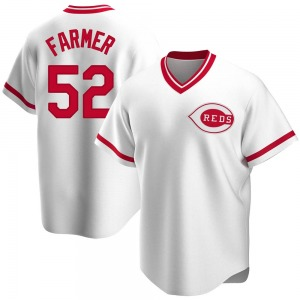 Youth Cincinnati Reds Kyle Farmer White Home Cooperstown Collection Jersey - Replica