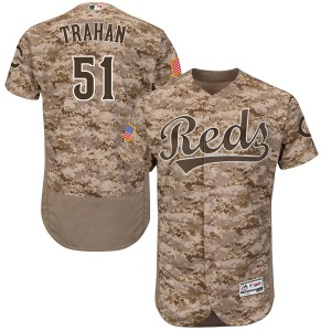 Youth Majestic Cincinnati Reds Blake Trahan Camo Flex Base Alternate Collection Jersey - Authentic